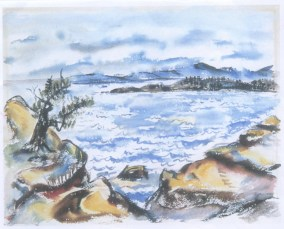 <em>Untitled</em>, ca. 1947, watercolor on paper, 22 1/2 x 30 in. (57.15 x 76.2 cm)