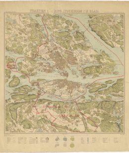 Källa: Stockholms stadsarkiv SE_SSA_TS1891 Blad 05 Trakten kring Stockholm i nio blad år 1891