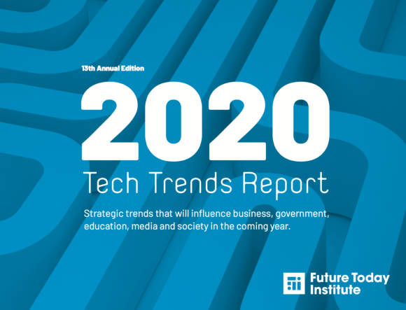 Cover of the Future Today Institute Tech Trends report