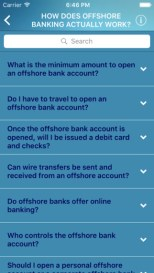 Offshore banking app from Harbor Financial Services Offshore