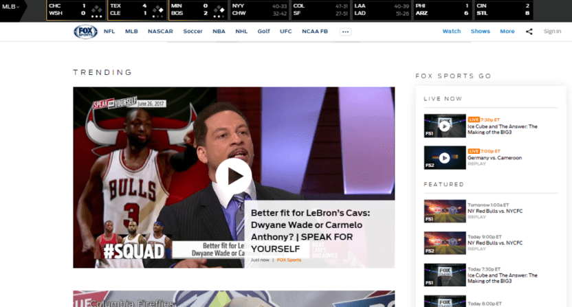 FoxSports.com lost 88% of its pageviews after switching to all video 1