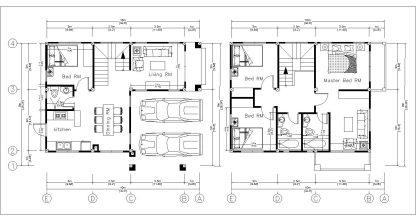 8x10 Home Design Plan with 4 Bedrooms floor plan