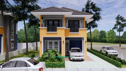 Home Plan 6x9.5m with 3 Bedrooms 2