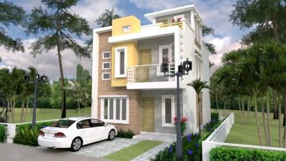 Home design plan 6x10m 2