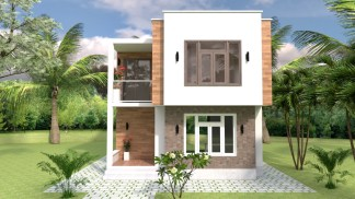 House Design with Full Plan 6.5x7.5m 21x25f 2 Bedrooms