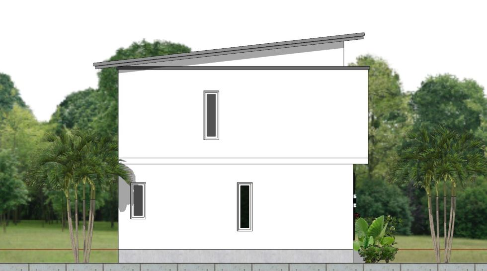House Plan 6.5x7.5M with 2 Bedrooms Left 2