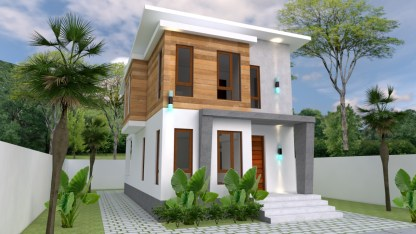 House Plans 5.4x10m with 3 Bedroom 1