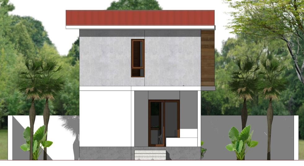 House Plans 5.4x10m with 3 Bedroom Back