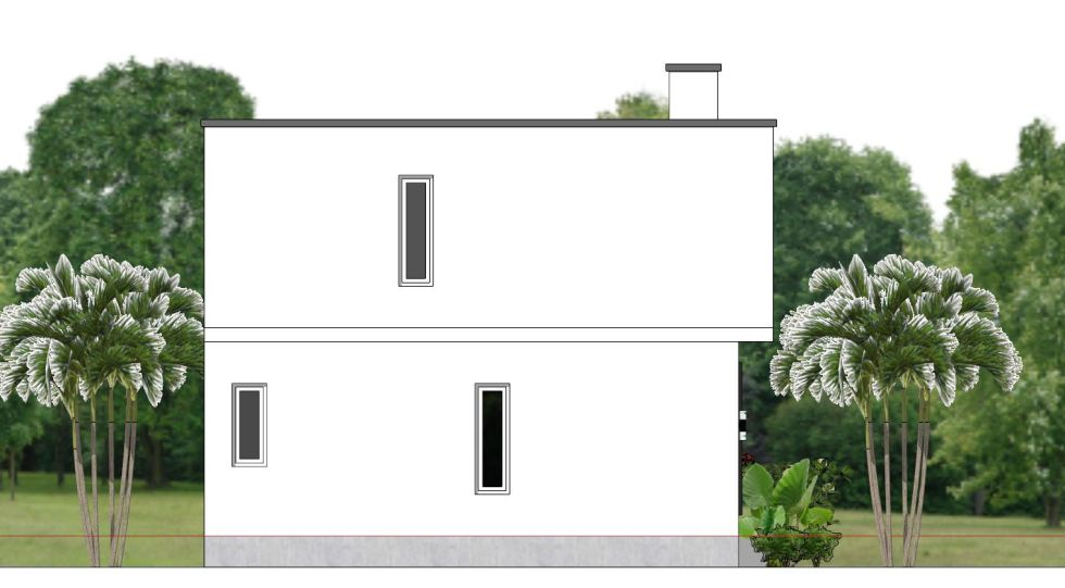 House Plans 6.5x7.5M with 2 Bedrooms Left