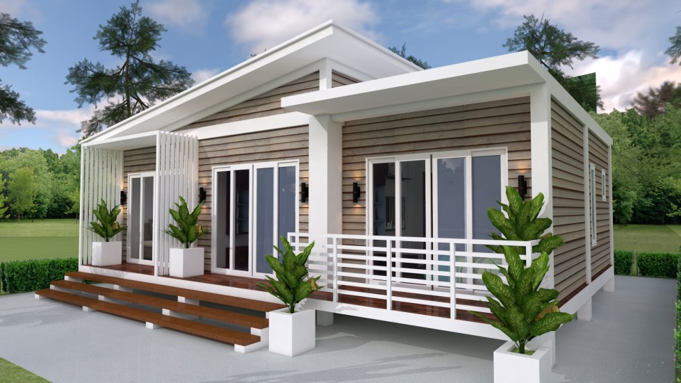 House Plans 10X8M with 3 Bedrooms