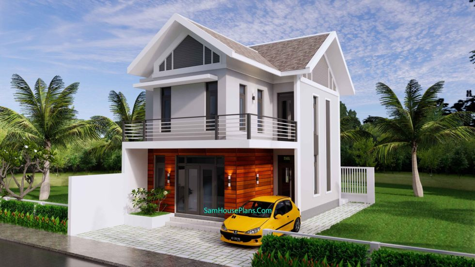 Sketchup Home Design Plan 6.5x9m with 2 Bedrooms 2