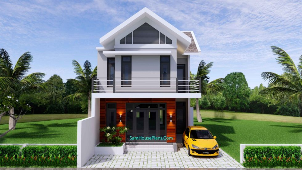 Sketchup Home Design Plan 6.5x9m with 2 Bedrooms 3