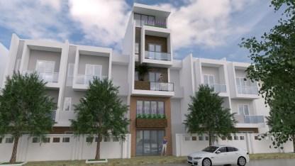 Narrow House Plans 4x13 Meter