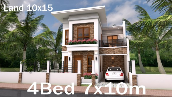 Home Plan 7x10 Meter 4 Bedrooms