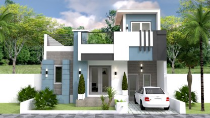 House Plans 9x12m with 2 Bedrooms