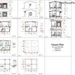 House Plans 6x7m with 2 bedrooms 20x23 Feet All layout plan 6x7 gable roof
