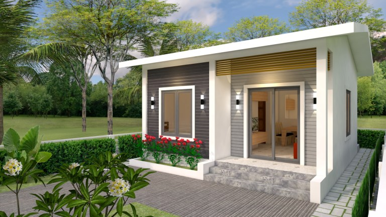 House Plans 6x7m with 2 bedrooms 20x23 Feet Pdf Full Plan 1