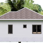 House plans 7.5x8.5m with 2 bedrooms Right