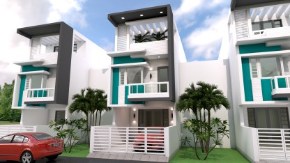 House Plans 4.5x22 with 3 Bedrooms