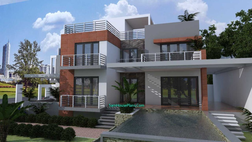 House Plans 10x16 with 3 Bedrooms V1