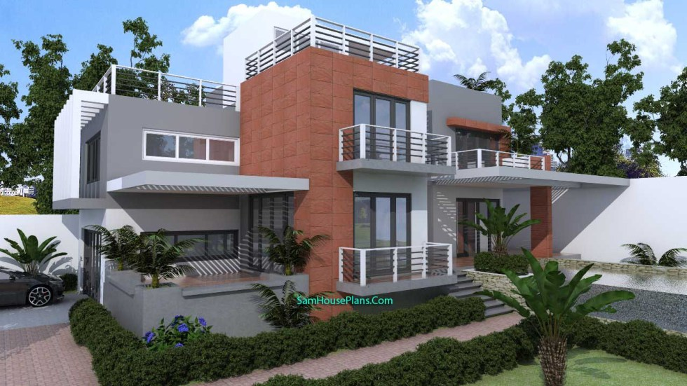 House Plans 10x16 with 3 Bedrooms V3