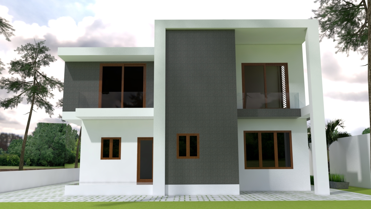 House Plans 13x15 with 4 Bedrooms pdf full plan 13