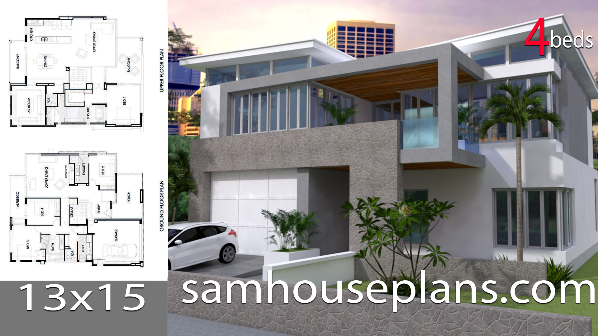 House Plans 13x15 With 4 Bedrooms Samhouseplans