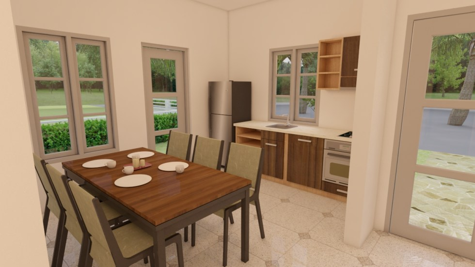 House Plans 7x10 with 3 Bedrooms dining room