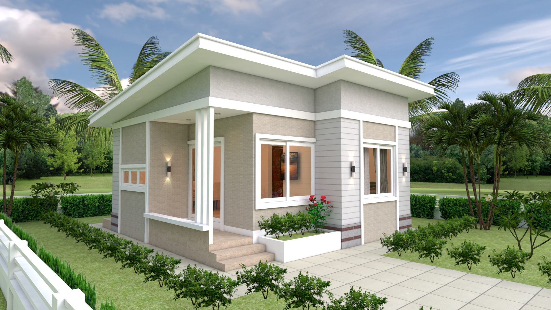 House Design Plans 7x7 with 2 Bedrooms Full Plans ...
