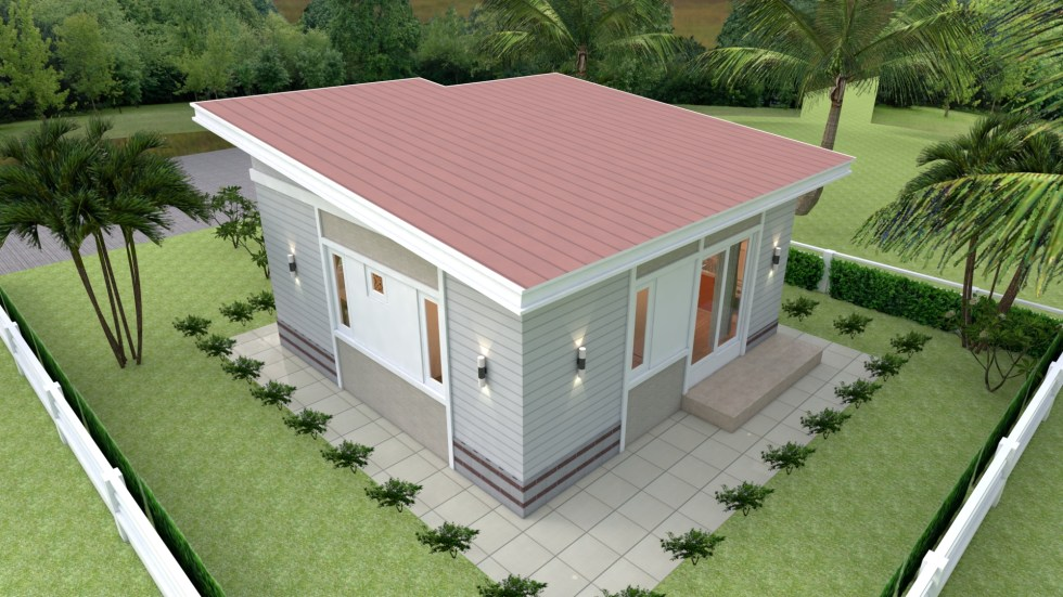 House Design Plans 7x7 with 2 Bedrooms Full Plans