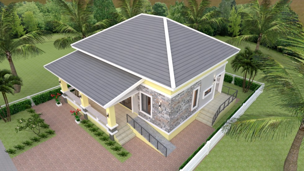 Small House Design 10 10 With 3 Bedrooms Hip Roof Amazing Architecture Magazine