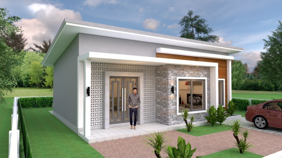 Small House Plans 10x8 With 2 Bedrooms Shed Roof Samhouseplans