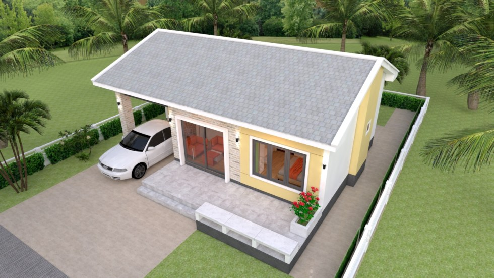 Simple House Plans 11x11 with 3 Bedrooms