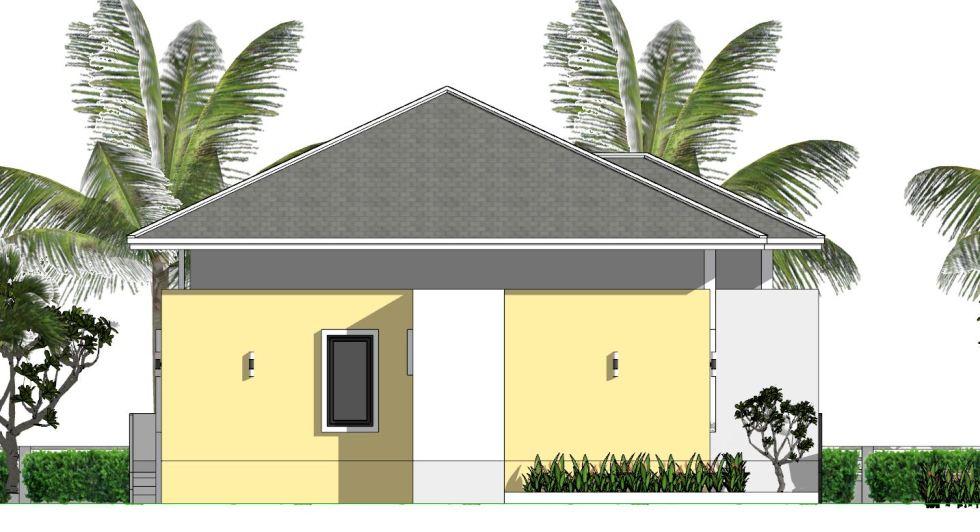 House Plans 12x12 Meter 4 Bedrooms Hip roof 40x40 Feet