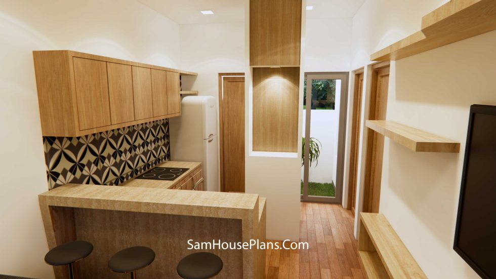 House Design 6x10 Meter 20x33F Terrace Roof
