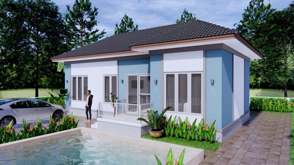 House Design Plans 11x6 Meters 36x20 Feet Hip Roof Samhouseplans