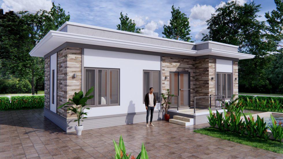 House Design Plans 11x6 Meters 36x20 Feet 3 Bedrooms Terrace Roof 3