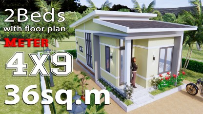 Small House Design Idea 4x9 Meters (36sq.m)