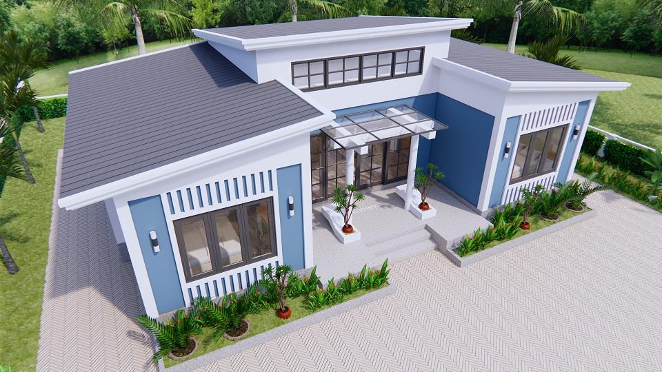 House Plans 13x7.5 Meter 43x25 Feet 3 Beds 3