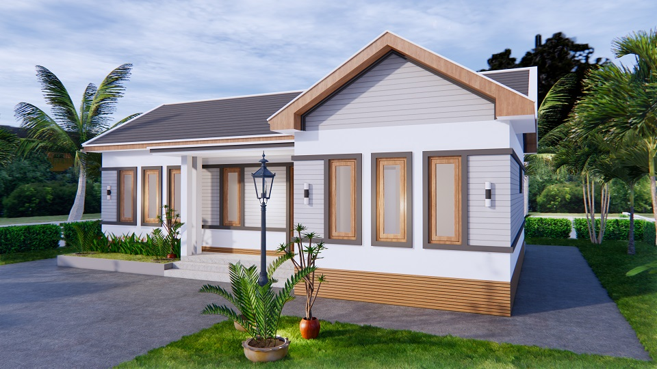 Luxury House Plans 12x8 Meters 40x26 Feet 3 Beds 3