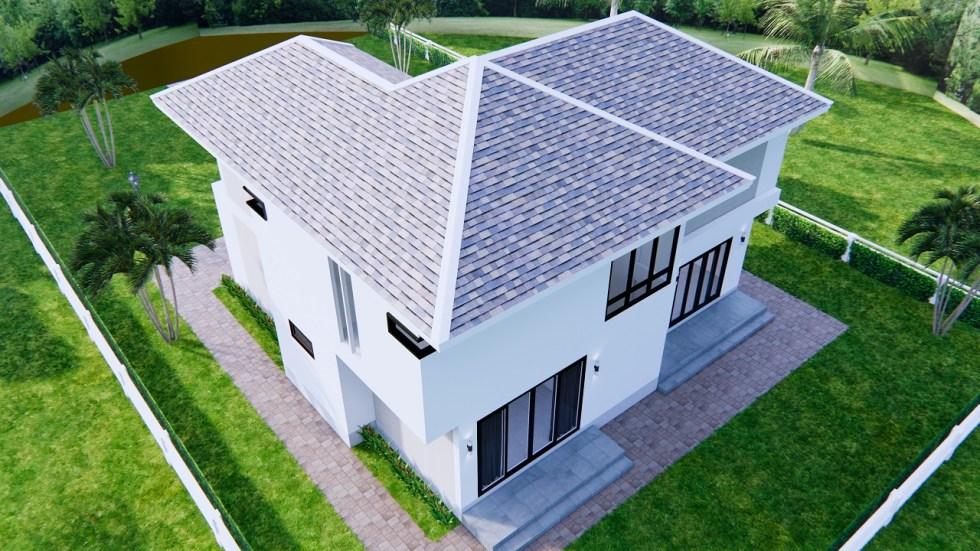 Home Designs 12.4x11 Meter 41x35 Feet 4 Beds 7
