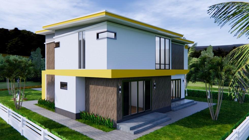 House Design 12.4x11 Meter 41x35 Feet 4 Beds 5