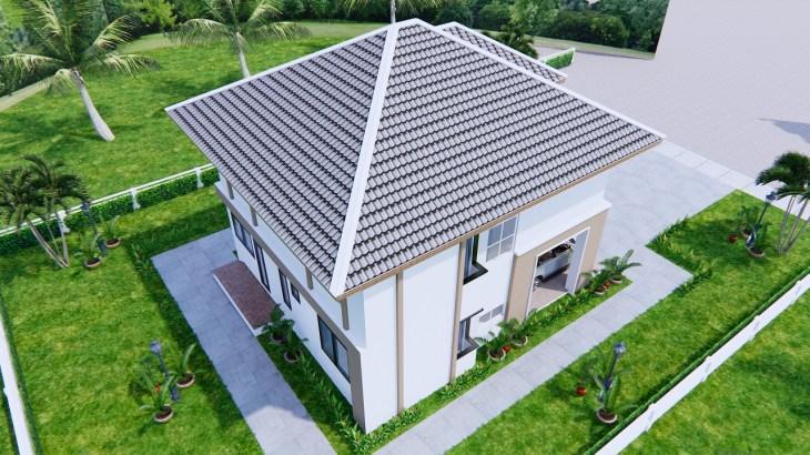 House Design 9x11 Meter 30x36 Feet 4 Beds 7