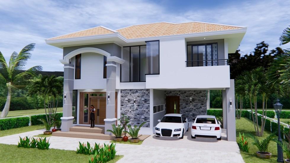 House Plans 11x8 Meter 36x26 Feet 3 Beds 8