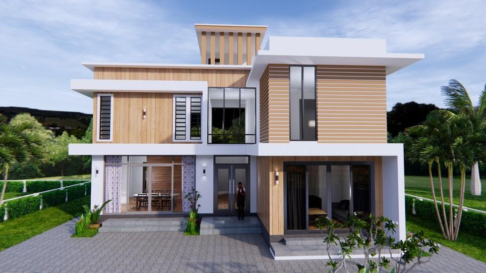 House Plans 12.4x11 Meter 41x35 Feet 4 Beds 3