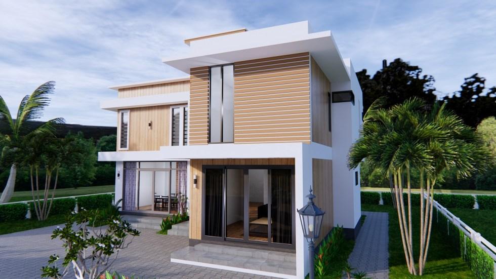 House Plans 12.4x11 Meter 41x35 Feet 4 Beds 4
