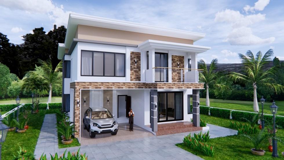 House Plans 9x11 Meter 30x36 Feet 4 Beds 1