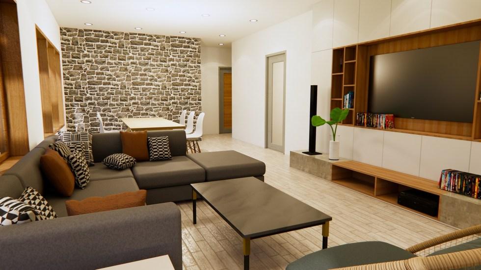 Modern House Design 12x14 Meter 40x46 Feet