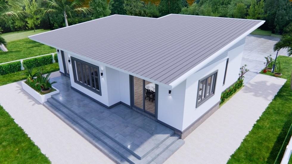 One Storey Building 12x9 Meter 40x30 Feet 2 Beds 8