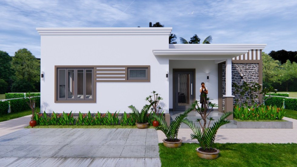 Online House Design 12x9 Meter 40x30 Feet 2 Beds 2